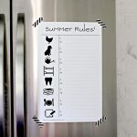 Summer Rules! (a.k.a. the kid friendly chore chart.)