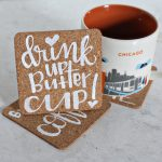 The Sweeter Side Makes: Hand Lettered Cork Coasters