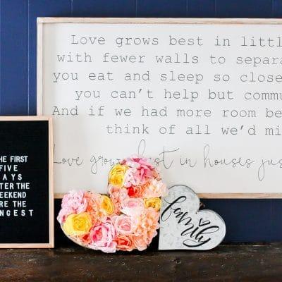 DIY Flower Filled Heart