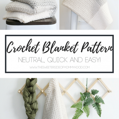 Neutral Color Block Crochet Blanket Pattern