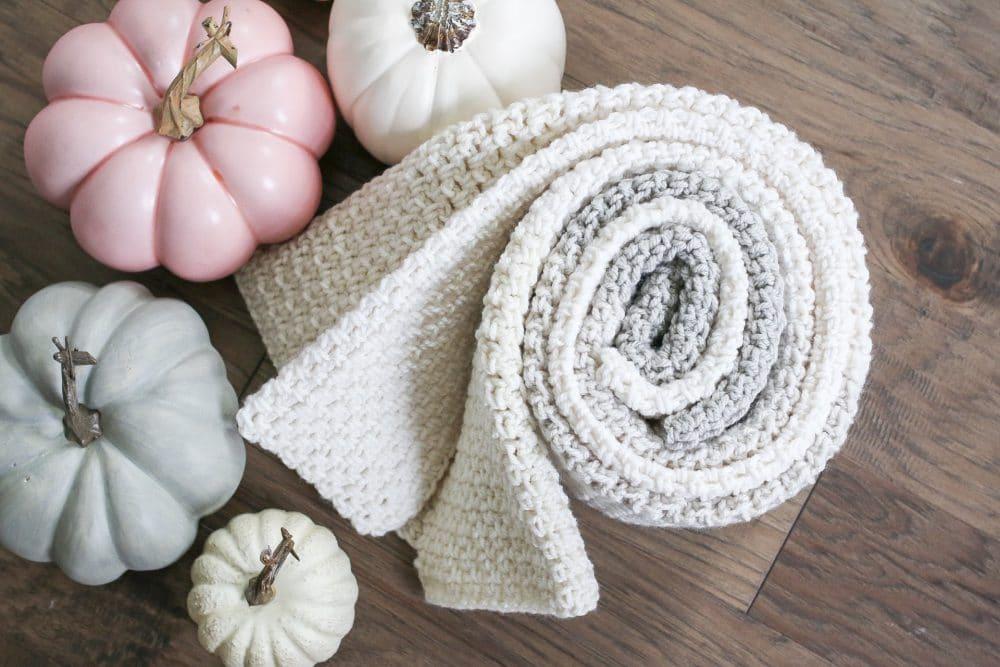Neutral Color Block Crochet Blanket Pattern The Sweeter Side Of
