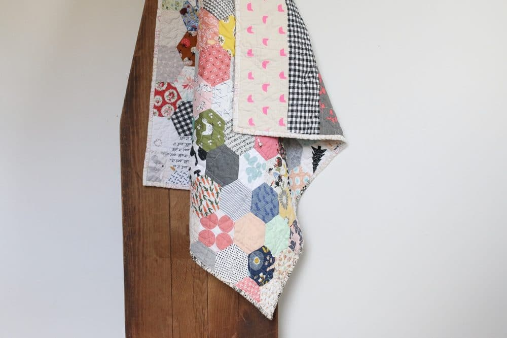 Hexagon quilt - epp at its finest. This quilt is so beautiful!