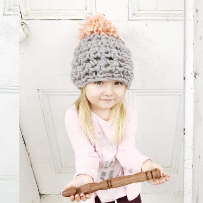 20 Minute Crochet Pom Hat Pattern