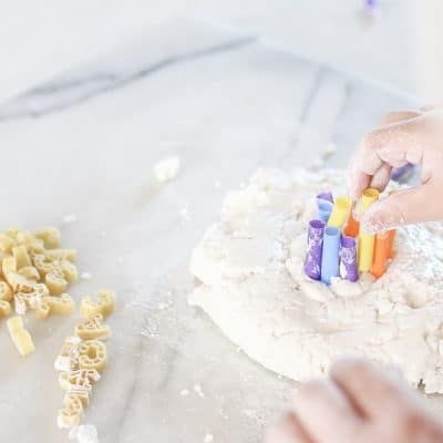 Fun and Easy Crafts for Kids : Experimenting with cooked play dough and messy hands.