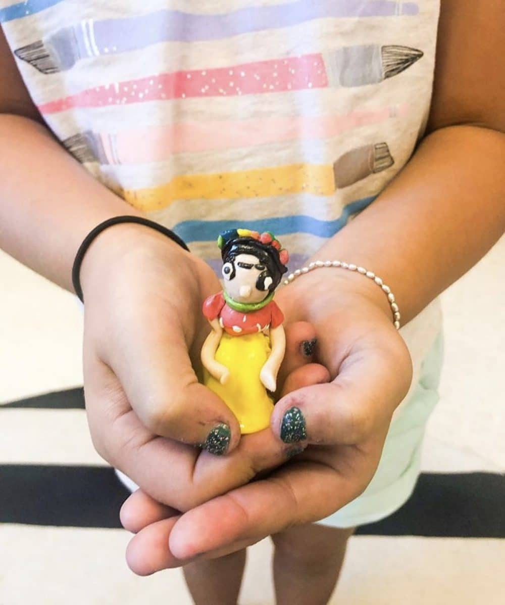 Polymer clay frida kahlo