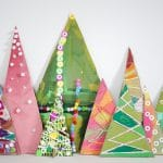 Cardboard Art Recycled Trees