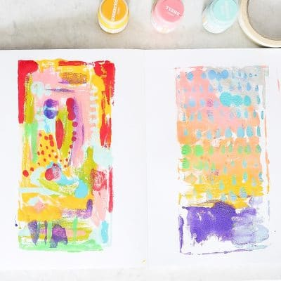 Preschool Process Art Sketchbook Prompt: Repeat Printing