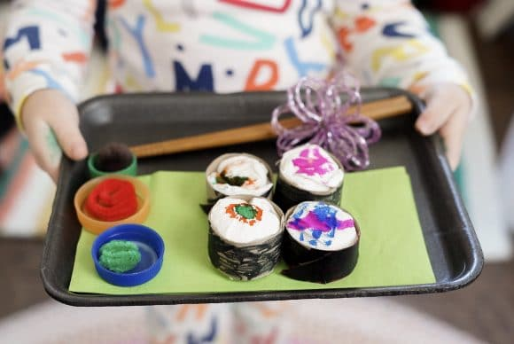 Toy Sushi Using Recycled Items