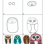 Directed Drawing How To Draw a Cute Owl
