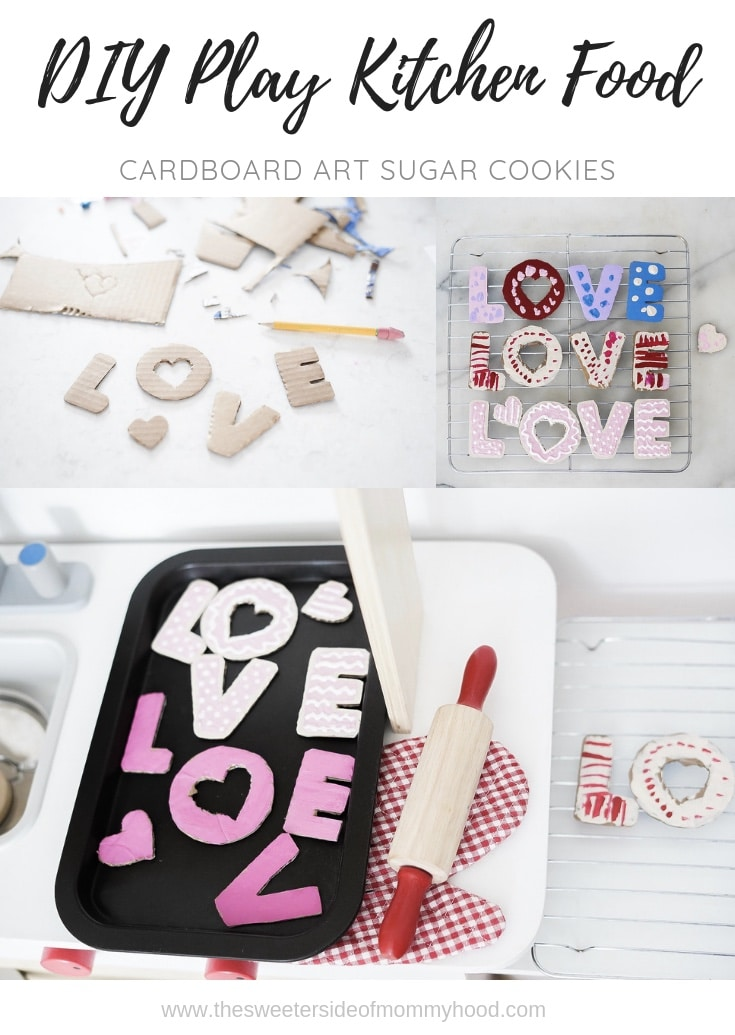 Play kitchen food- Cardboard Art sugar cookies!