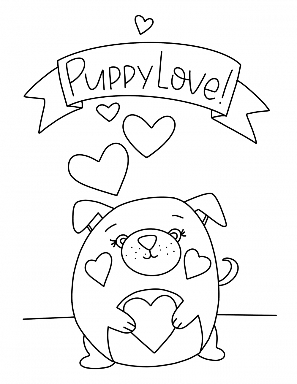 Free valentine printable coloring pages.