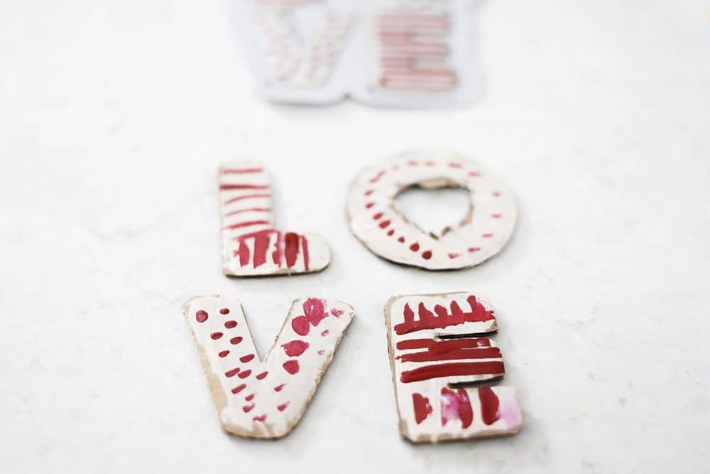 Play kitchen food sugar cookies cardboard art