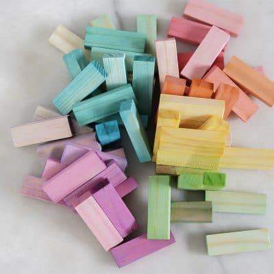 DIY Jenga Rainbow Blocks