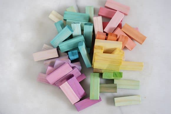 DIY Jenga Rainbow Blocks