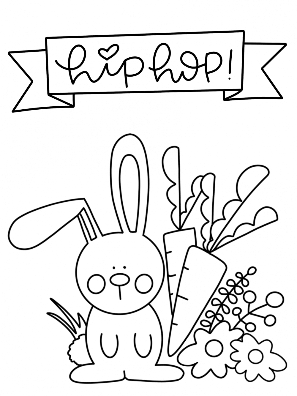 Free Easter Coloring Page Printable - The Sweeter Side of ...