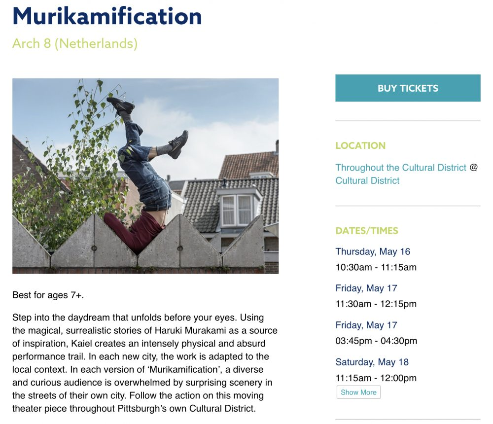 Pittsburgh Children's theater festival murikamification