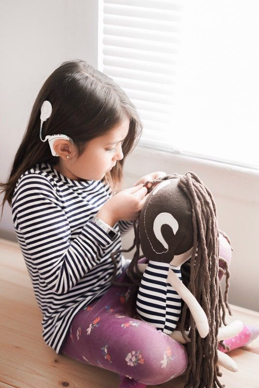 Cochlear-implant-doll