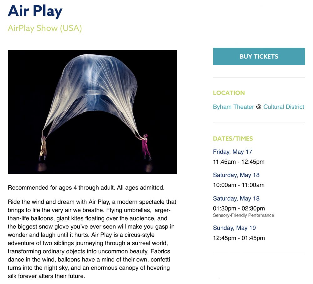 Pittsburgh Children's theater festival air play