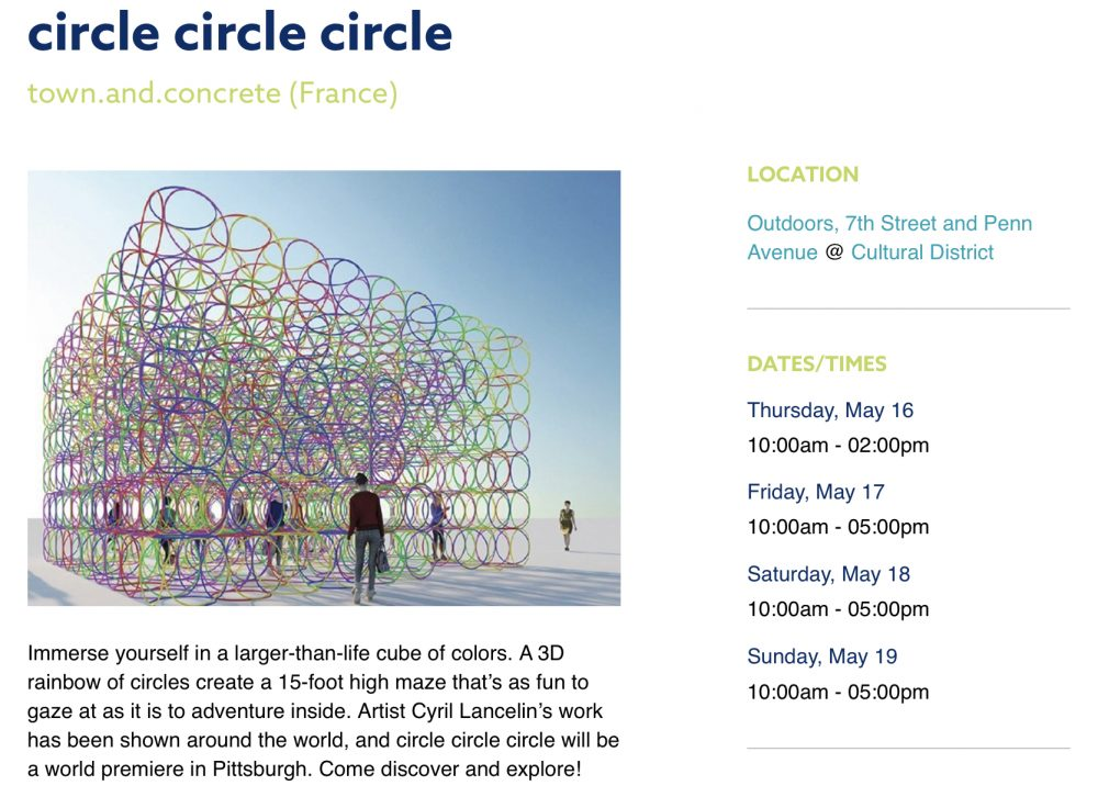 Pittsburgh Children's theater festival circle circle circle