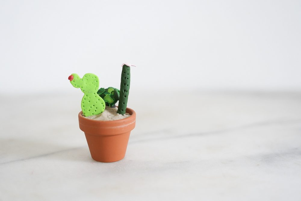 Polymer clay cactus and succulents