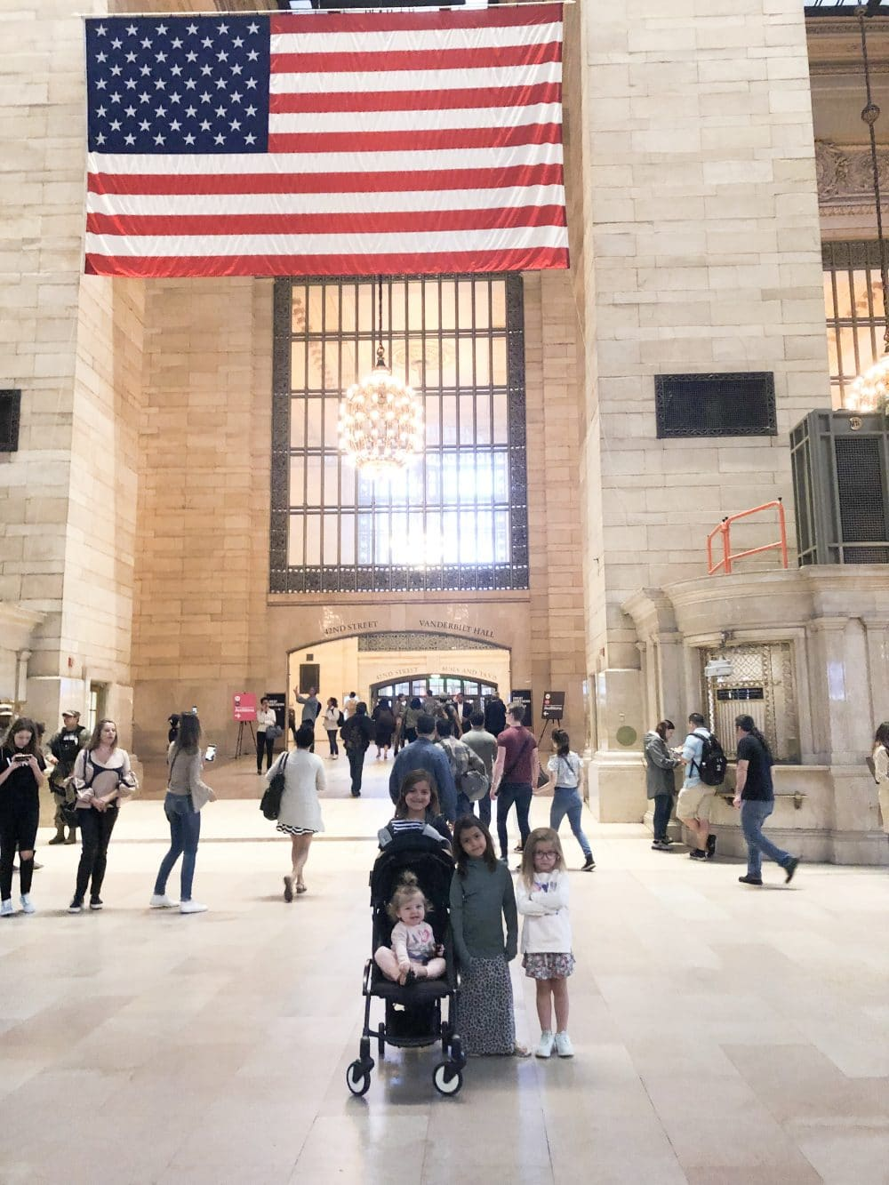 Grand central station with kids