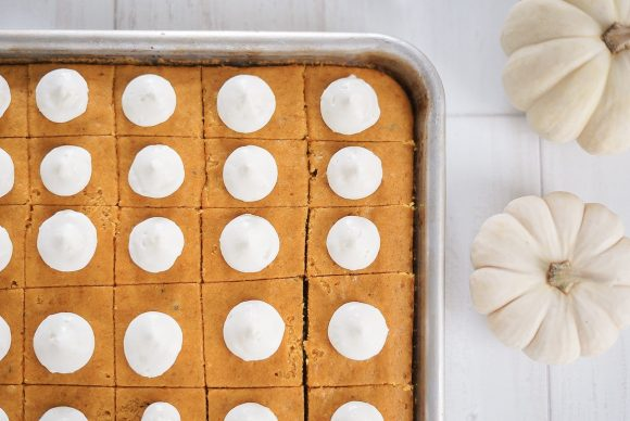 Pumpkin Bars with Amaretto Frosting