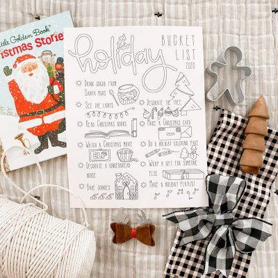 Holiday Bucket List Free Printable